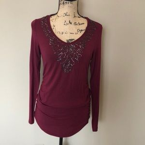 A Pea in the Pod beaded maternity top